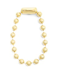 Balenciaga Ball Bead Chain Necklace Gold