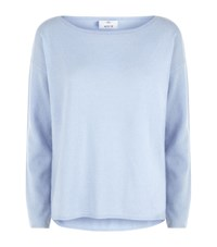 Allude Boat Neck Cashmere Sweater Female Blue