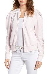 Juicy Couture Women's Puff Sleeve Velour Track Jacket