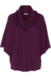 Joie Celia Draped Knitted Sweater Violet