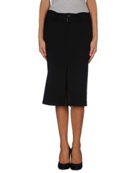 Limi Feu Knee Length Skirts Black