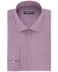 Unlisted By Kenneth Cole Men's Slim Fit Checked Dress Shirt Berry