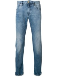 Pt05 Faded Slim Trousers Blue