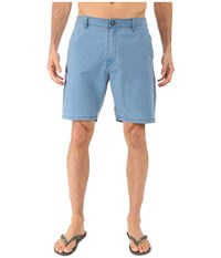 Volcom Snt Faded Hybrid Shorts Sun Faded Indigo Men's Shorts White