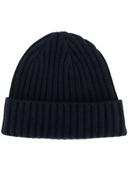 N.Peal Chunky Ribbed Hat Blue