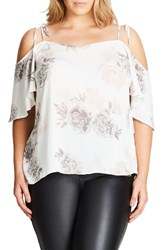 City Chic Plus Size Women's Whimsy Floral Top