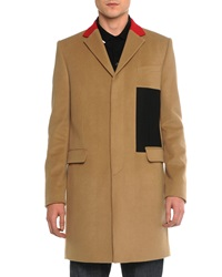 Givenchy Color Block Wool Topcoat Camel