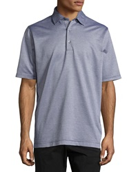 Bobby Jones Hagen Jacquard Polo Shirt Navy