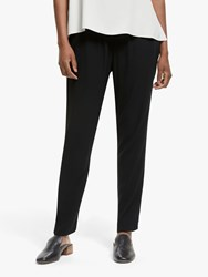 Eileen Fisher Slouchy Silk Ankle Trousers Black