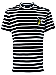 Markus Lupfer Stripe Banana Patch T Shirt White