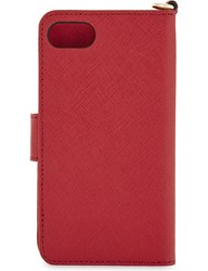 Michael Michael Kors Folio Leather Iphone 7 Case Bright Red