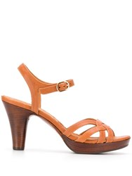 Chie Mihara Open Toe Sandals Brown
