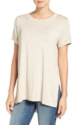 Amour Vert Women's Paola High Low Tee Oatmeal