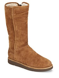 Ugg Abree Shearling Lined Tall Suede Boots Bun
