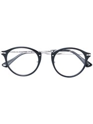 Persol Round Frame Sunglasses Unisex Acetate Metal Other Black