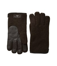 Ugg Knit Tech Solid Gloves Stout Heather Wool Gloves Brown