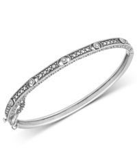 Genevieve And Grace Sterling Silver Bracelet Marcasite Thin Bangle