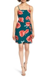 Mimi Chica Floral Print Minidress Teal Floral