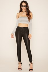 Forever 21 Faux Leather Panel Pants