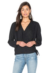 Ikks Paris Long Sleeve Wrap Blouse Black