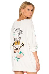 Wildfox Couture Beverly Hills Butterflies Sweater White