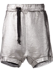 11 By Boris Bidjan Saberi Metallic Track Shorts