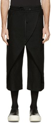 D.Gnak By Kang.D Black Wool Panelled Axis Pants