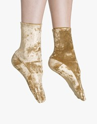Darner Gold Foil Crushed Velvet Socks