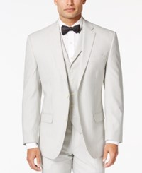 Sean John Men's White And Black Pinstriped Classic Fit Jacket