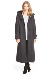 Women's Gallery Hooded Full Length Wool Blend Coat