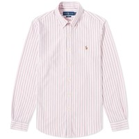 Polo Ralph Lauren Slim Fit Multi Stripe Button Down Oxford Shirt Pink
