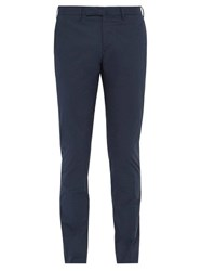 Incotex Slim Fit Cotton Blend Chino Trousers Navy