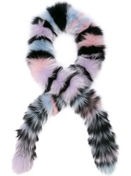 Charlotte Simone Scarf Chunky Monkey Fox Excl Pink And Purple