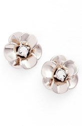Kate Spade Women's New York Shine On Flower Stud Earrings Silver
