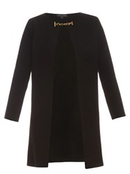 Burberry Collarless Wool And Cashmere Blend Knit Coat