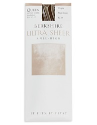 Berkshire Queen Ultra Sheer Knee Highs Brown