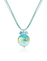 House Of Murano Mare Turquoise Murano Glass Pendant W Lace