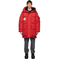 Juun.J Red Canada Goose Edition Down Expedition Parka