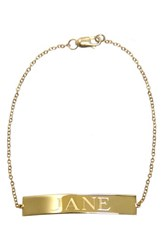 Jane Basch Women's Personalized Id Bracelet 14K Yellow Gold