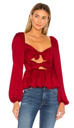 Tularosa Gia Top In Red.