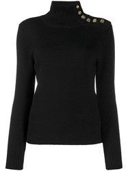 Paco Rabanne Button Shoulder Jumper Black