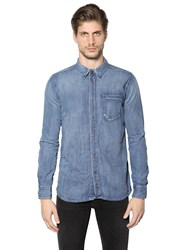 Nudie Jeans Authentic Washed Cotton Denim Shirt