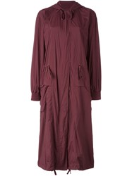 Dkny Pure Draped Trench Coat Red