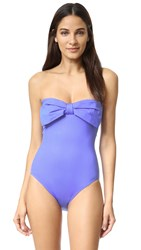 Kate Spade Georgica Beach Bandeau Swimsuit Adventure Blue