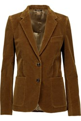 Maison Martin Margiela Cotton Blend Corduroy Blazer Brown