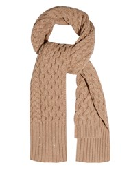 Maison Martin Margiela Chunky Cable Knit Wool Scarf