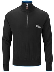 Oscar Jacobson Brett Tour Lined Half Zip Jumper Black