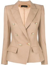 Alexandre Vauthier Double Breasted Blazer Nude And Neutrals