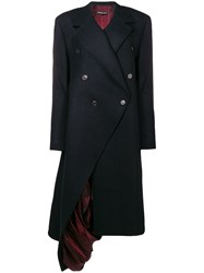 Y Project Exposed Lining Asymmetric Coat Blue