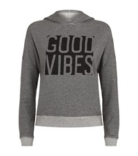 Sundry Good Vibes Cross Back Hoody Female Grey